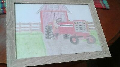 framed tractor drawing