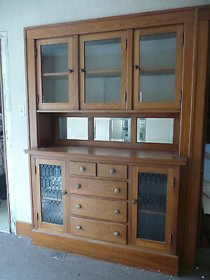Antique Craftsman Style Built In China Cabinet   C. 1910 Architectural  Salvage