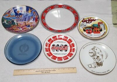 lot of 6 coca cola collectible plates gets badger springs get together Ohio wint