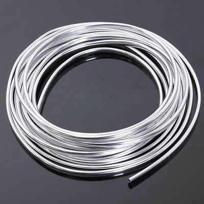 15M Chrome Strip Moulding Trim Car Door Edge Scratch Guard Protector Cover