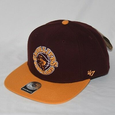 ca34f36497e Cavs Cleveland Cavaliers Hat One Size Snapback NBA Flat Brim Maroon Gold