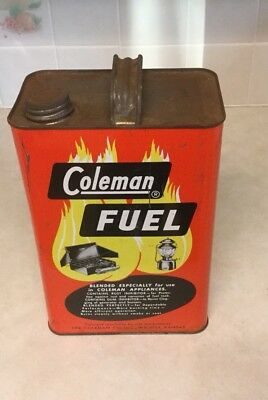 Vintage Empty Coleman Fuel 1 Gallon Can/ Old Graphics