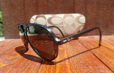 Ray Ban Sunglasses Vintage Bausch & Lomb Cats Black Aviator France