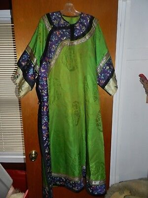 Antique Chinese Silk Court Robe Early 1900s Very Nice Needs restoration  NR