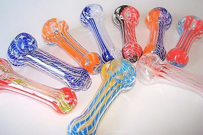 "Collectible Tobacco Pipe 3""- Buy 2 Get 1 Free, Glass Hand Smoking Bowl Pipes"