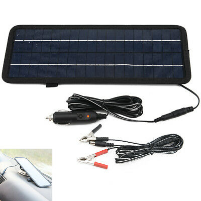 12V 4.5w Solar Panel Power Trickle Car Boat Automobile Battery Charger Backup UK