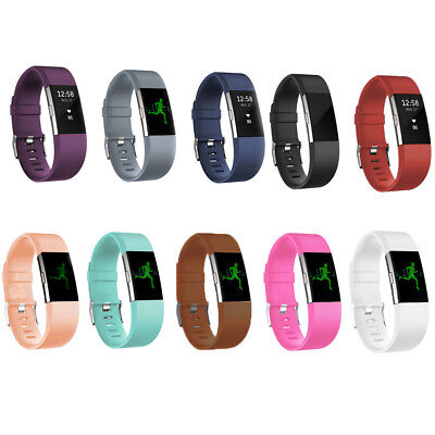 Replacement Rubber Silicone Strap Band Wristband Bracelet For Fitbit Charger 2