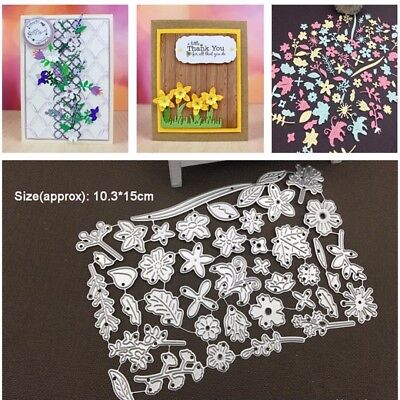 Spring Flowers Metal Cutting Dies Mold Stencil Scrapbook Paper Craft DIY Album