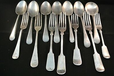 Mixed Bundle Lot Of Assorted Vintage Silver Spoons & Forks Bengal