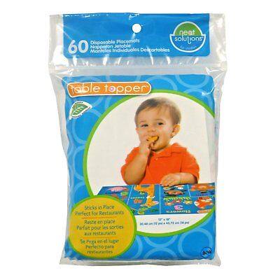 New! Neat Solutions 60 Pack Table Topper Disposable Stick In Place Placemats