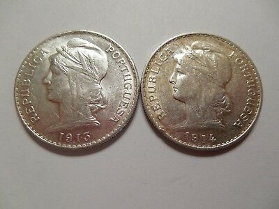 Portugual 50 centavos/ 1913 AU and 1914 (XF-AU)/ two for the price of one! KM561