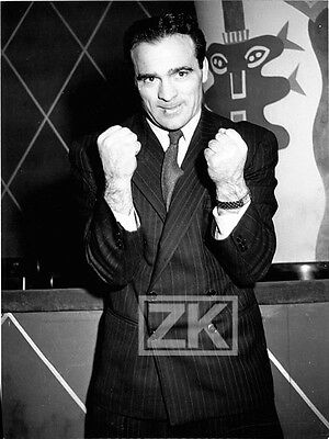 MARCEL CERDAN Boxe Boxing Champion Poing Sport Photo 1950s