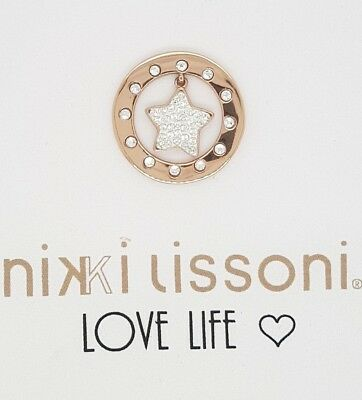 Nikki Lissoni Twinkle Star Rose Gold Plated 23Mm Coin Rrp $109