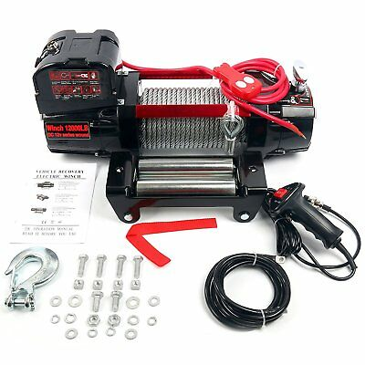 Winch - 12000 lb. Load Capacity Self Recovery With Remote Control for vehicles