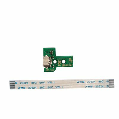 Micro USB Charging Port JDS-011 + 12Pin Flex Cable For PS4 Controller Green