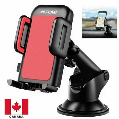 Mpow Car Mount Phone Holder Stand Dashboard/Windshield For iPhone CANADA