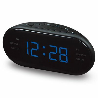 Electronic AM/FM LED Clock Radio Modern Desktop Alarm Clock Digital Table Clocks