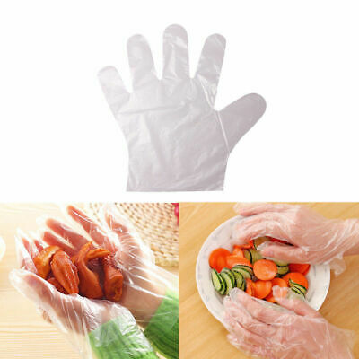 100pcs Disposable Plastic Gloves Restaurant Home Service Catering Hygiene