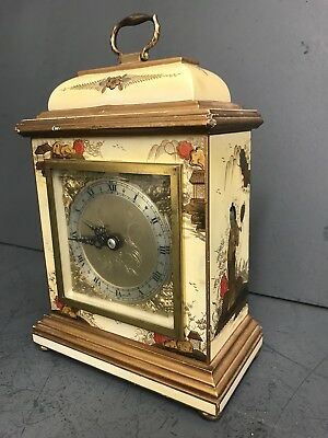 Vintage Antique Elliot Clockwork Oriental Bracket Clock - Mantle Clock