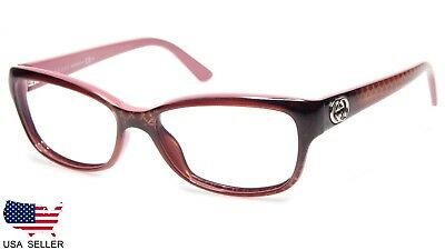 61745b5f0d9 NEW GUCCI GG 3648 1EG TOP BROWN TEXTURE ON PINK EYEGLASSES 53-15-140