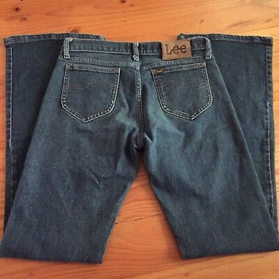 Womens Vintage LEE Classic Blue BUMSTERFLARE Bell Bottom Jeans 11 80's