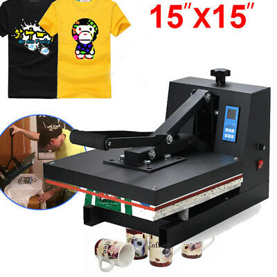 "【CA】 Digital 15"" X 15""CLAMSHELL HEAT PRESS T-SHIRT TRANSFER SUBLIMATION MACHINE"