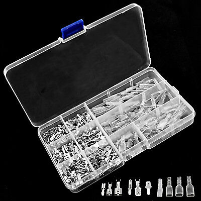 270 Assorted Insulated Electrical Wire Terminal Crimp Connector Spade Tool Set