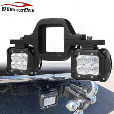 Ford F150/250/350 Ranger Backup Rear Lower Tow Hitch 18W Cube LED Lamp Bar Kits
