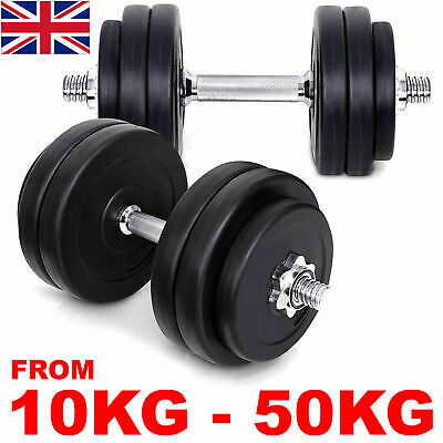 Dumbbell Set Vinyl Dumbbells Sets Gym Weights Fitness Bicep Tricep Free Weight