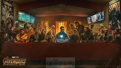 Poster 42x24 cm Vengadores Avengers Infinity War La Ultima Cena The Last Supper