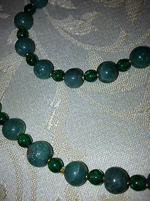 Antique Green Jade Long Necklace