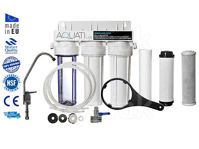 3 x 3 STAGE DRINKING WATER FILTER SYTSEM KIT + FAUCET + ACCESSORIES for valanet