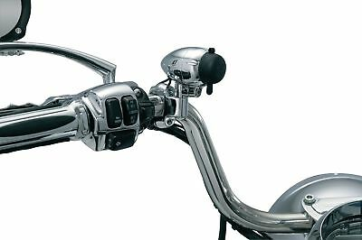 "Kuryakyn 1476 Chrome 1-1/4"" Handlebar Mounted Electrical Power Point"