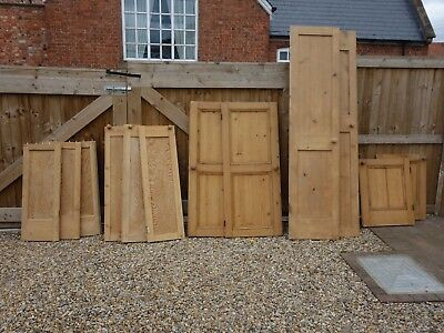 12 Reclaimed stripped pine cupboard doors / panels