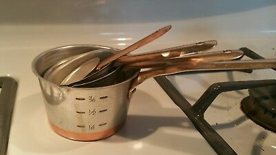 VINTAGE Aluminum Measuring Cups  Set Rustic Country Farmhouse