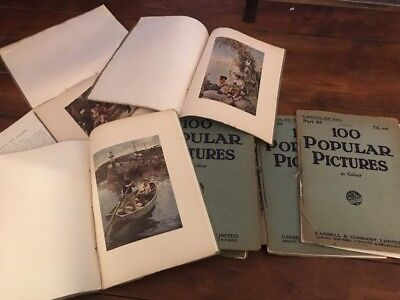 Antique 1900's Collection Of 100 Popular Pictures - Fine Prints - Masters
