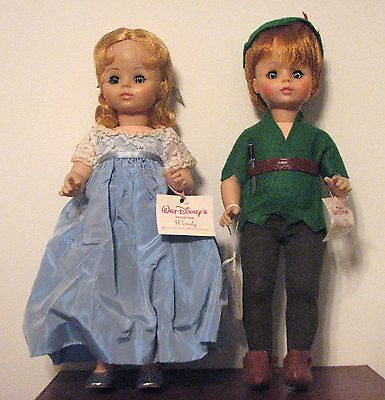 Vintage Madame Alexander Dolls:  Wendy & Peter Pan, 1969  Mint Condition