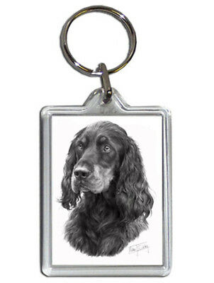 Mike Sibley Gordon Setter Quality Acrylic Keyring 50mm x 35mm - Dog Lover Gift