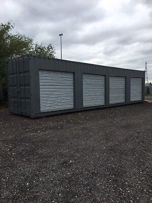 Shipping Container 40ft with roller shutter doors self storage Sheffield