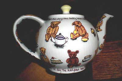 "TED TEA TEAPOT /Teddy Bear CARDEW DESIGN /2 cup 4 1/2"" / Ind./ Child's Size"