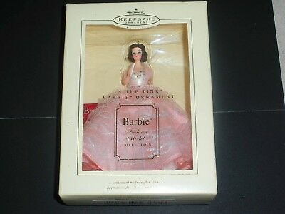 2003 Barbie In the Pink Hallmark Ornament Fashion Model Collection - New in Box