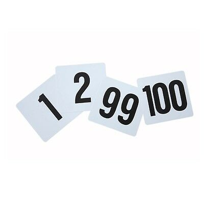 Winco TBN-100 Plastic Table Numbers Set [Set]