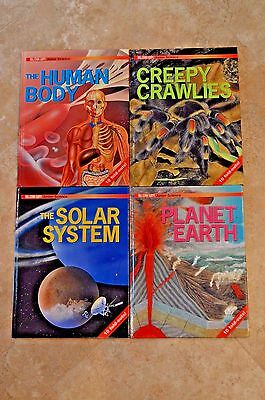 Lot Science Books Solar System Creepy Crawlies Earth Human Body Junior Reader