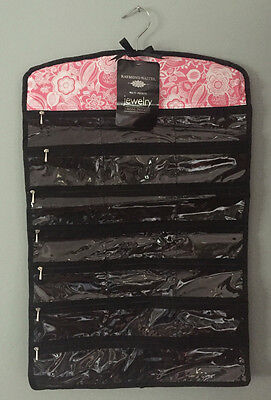 RAYMOND WAITES Hanging Jewelry Organizer Pockets Zippers Loops NEW