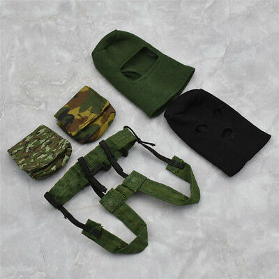 """1:6 Scale Soldiers Accessories Military Model Black Caps For 12"""" Action Figure"""