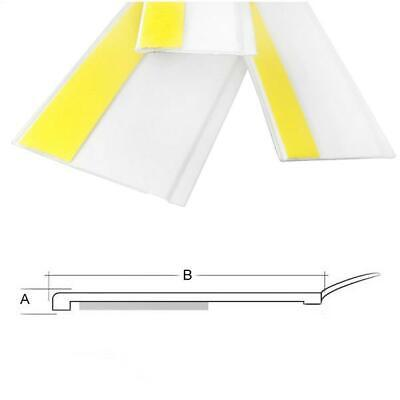 FLAT SELF-ADHESIVE DOOR WINDOW ARCHITRAVE WHITE PVC COVER STRIP WITH SEAL 1mm