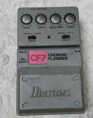 ibanez CF-7 chorus/flanger effects guitar pedal F/S