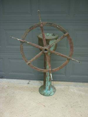 Antique Brass Ship Steering Station American Engineering  Local Pick Up  18D115