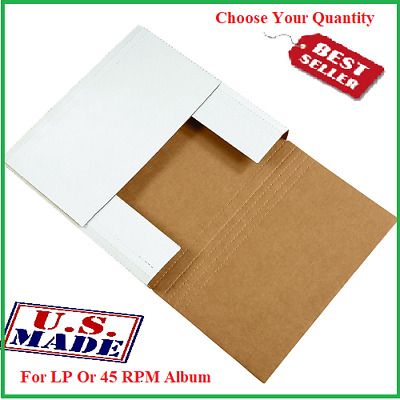 LP / 45 RPM Premium Record Album Mail Book Box Variable Depth Laser Disc Mailers