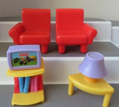 fisher price my first dollhouse figures & furniture - $14.99 | picclick